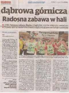 Relacja z XVII Paraspartakiady Śląska i Zagłębia w Dzienniku Zachodnim