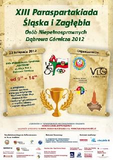 Plakat XIII Paraspartakiady Śląska i Zagłębia 2012