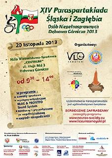 Plakat XIV Paraspartakiady Śląska i Zagłębia 2013